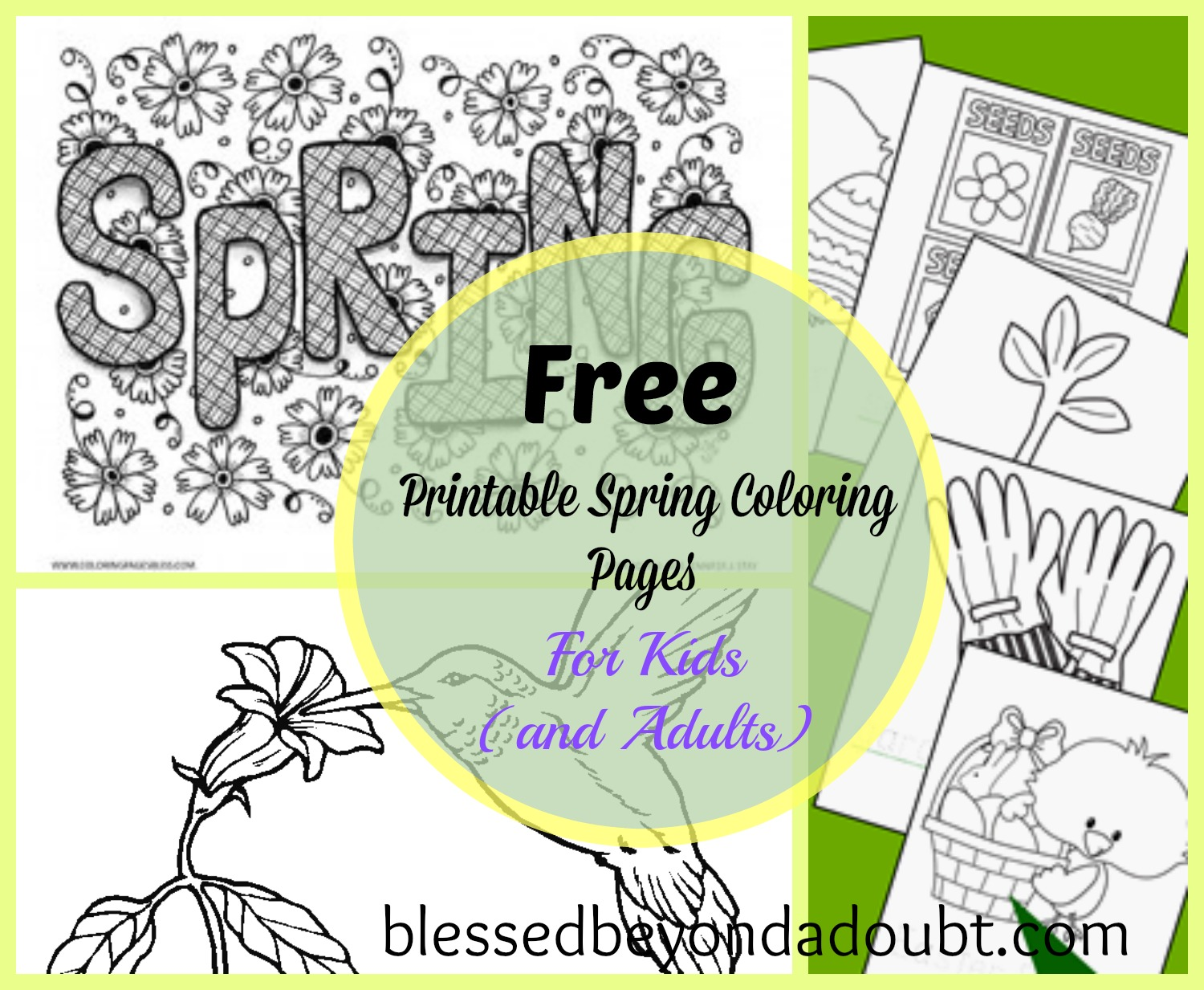 20 Free Printable Spring Coloring Sheets For Kids And