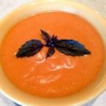 Creamy Tomato-Basil Soup (vegan and GF)