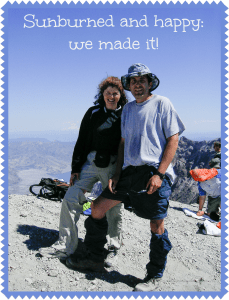 Pedro and I summit Mount St. Helens just 19 months after his stem cell transplant