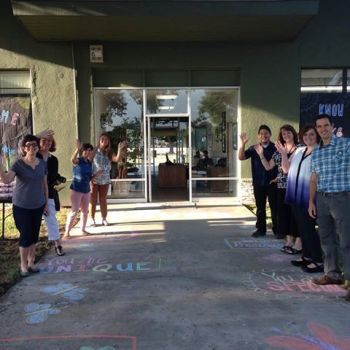 The teachers at my new school lined up to welcome students to a new beginning.