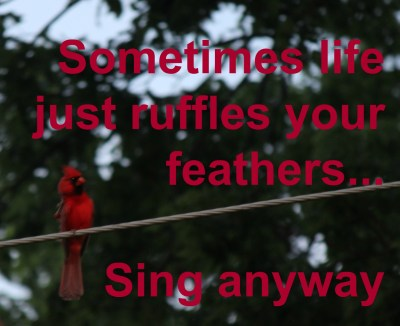 Life can be a mess - sing anyway