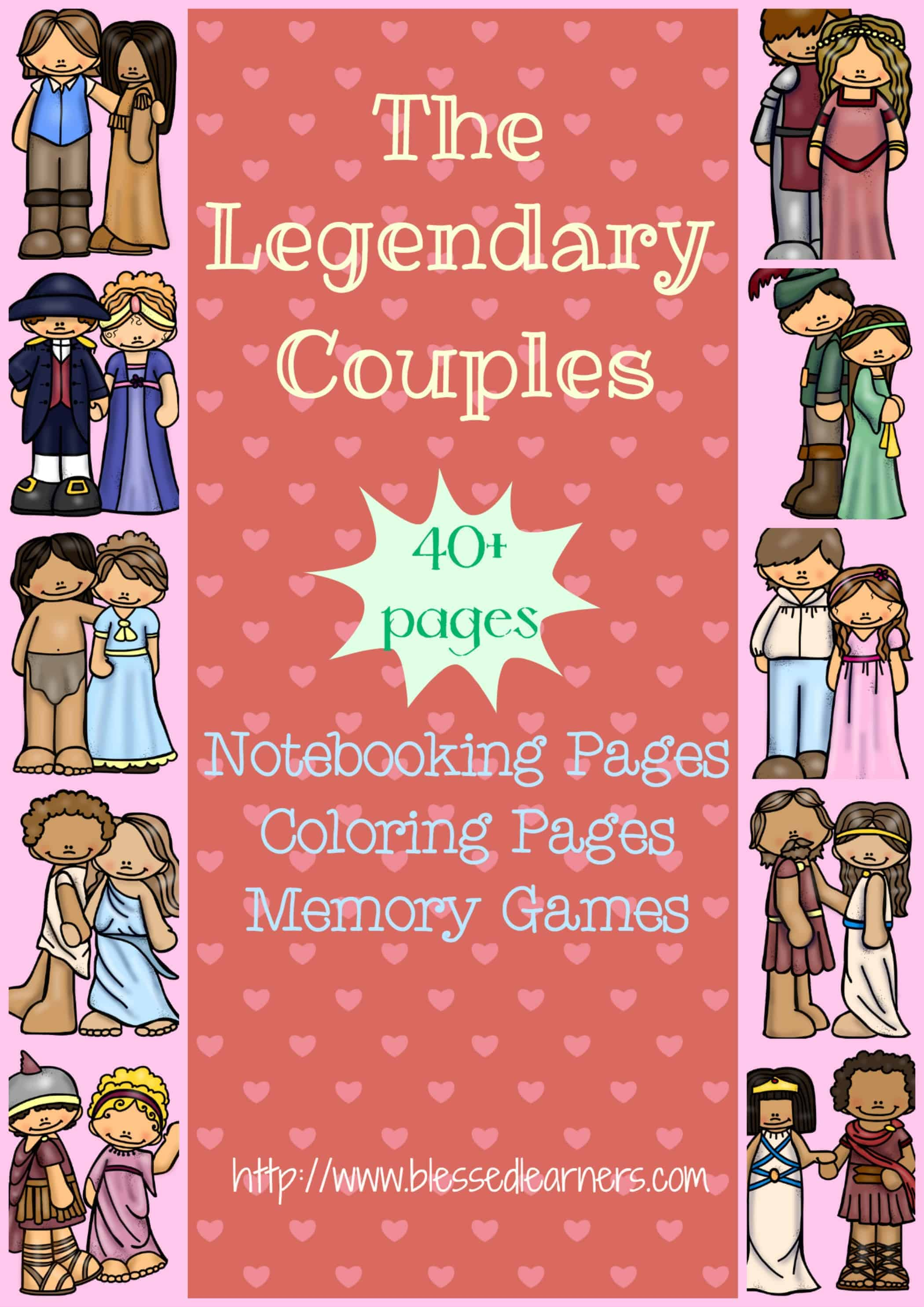 Printables The Legendary Couples Around The Valentine S Day