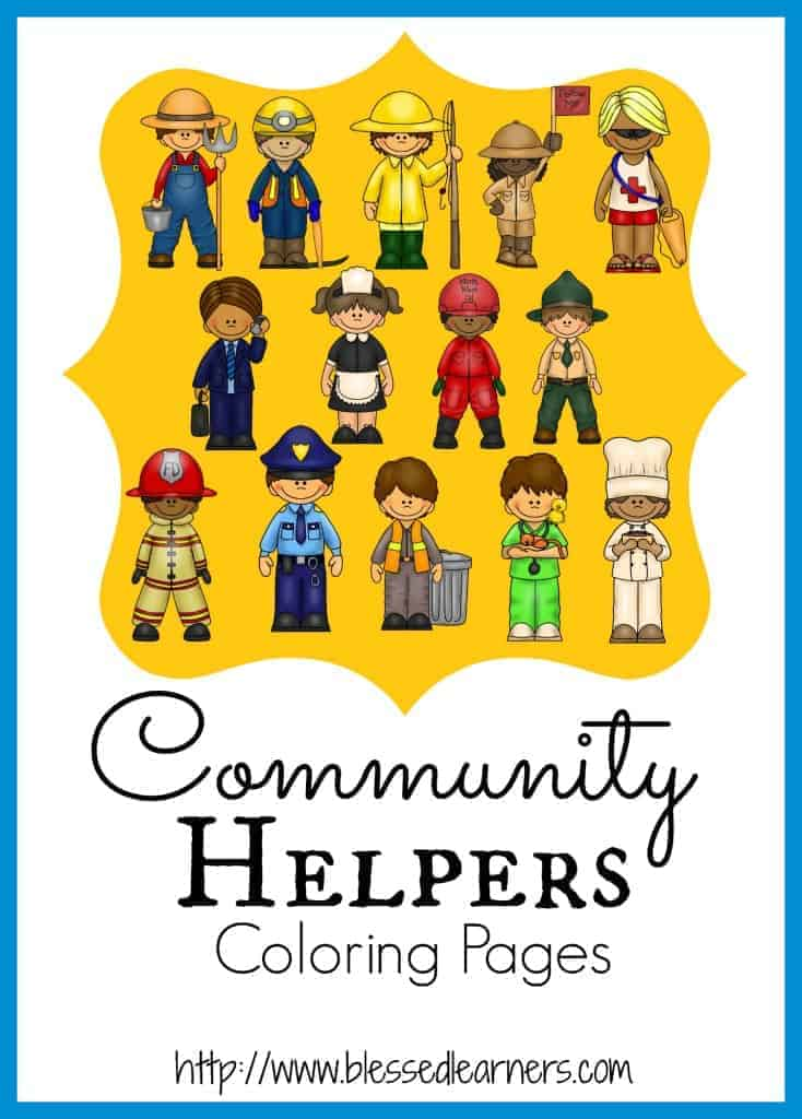 printable community helper coloring pages blessed learners