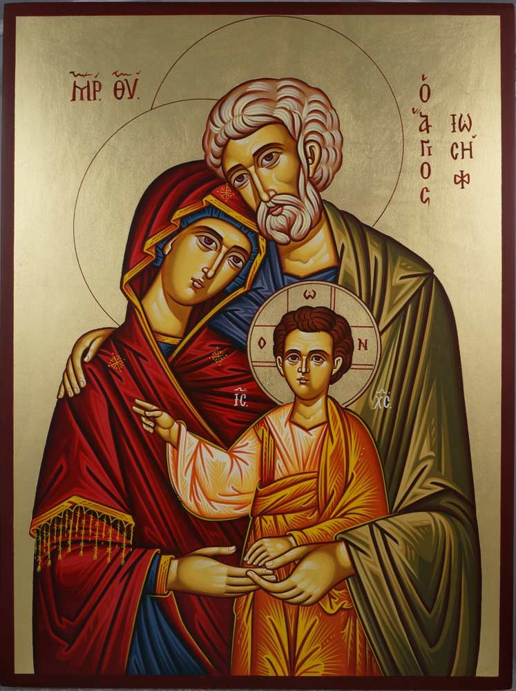 The Holy Family Hand Painted Icon BlessedMart