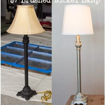 Project: DIY Brushed Nickel Lamps