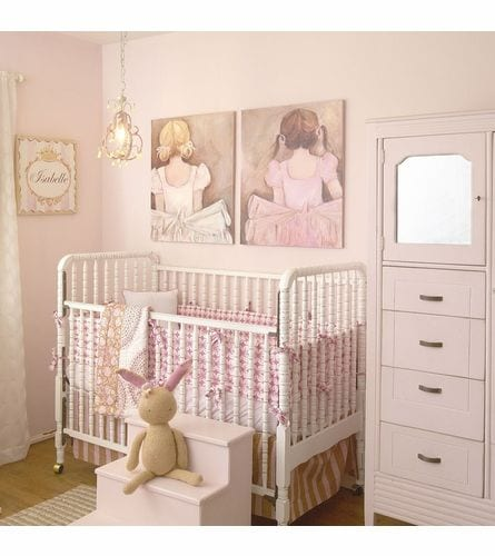 Sweet pink nursery for a little ballerina in training <3