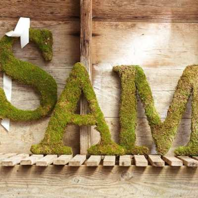 Pottery Barn Knock-Off Moss Letters