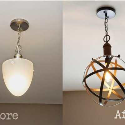 DIY Industrial Rustic Pendant Light