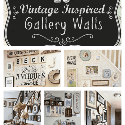 Inspiration Mash Up:  10 Vintage Inspired Gallery Walls