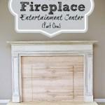 Diy Faux Fireplace Entertainment Center Part One Bless Er House