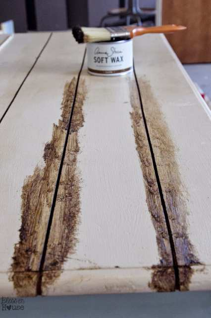 Faux Reclaimed Wood Table Top How-To
