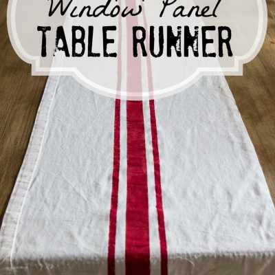 Repurposed Curtain Panel to Grain Sack Table Runner