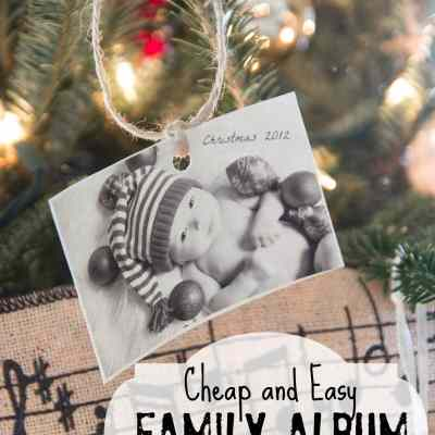 Christmas Ornaments on the Cheap: The Family Album Tree
