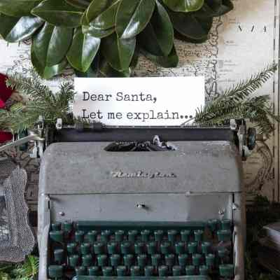 French Industrial Christmas Vignette