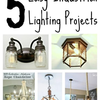 5 DIY Industrial Light Fixtures for Under $25