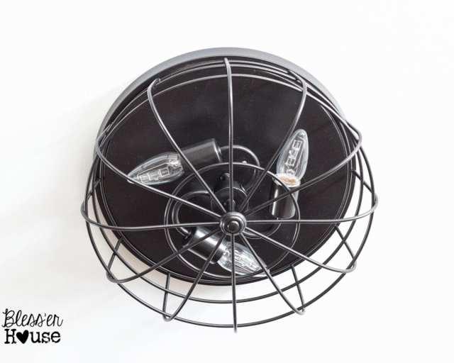 Bless'er House | 5 DIY Industrial Light Fixtures for Under $25