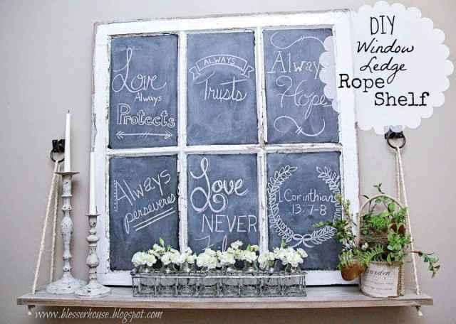 Bless'er House | DIY Window Ledge Rope Shelf