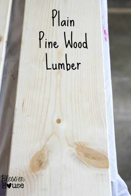 Here is what plain lumber looks like before our all natural wood stain method.