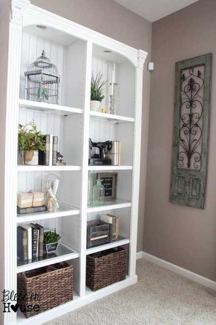 Bless'er House | Styling a Bookcase - Less is more.
