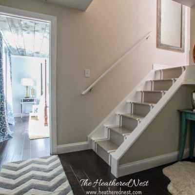 Brightened Up Basement Stairway Reveal