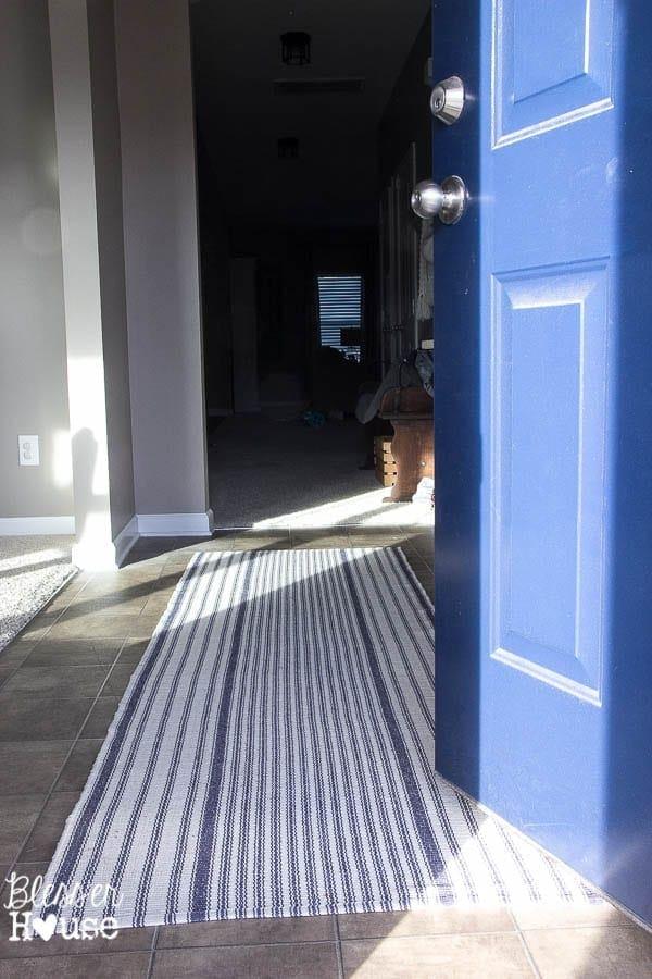 Ticking Stripe Foyer Runner Rug | Bless'er House