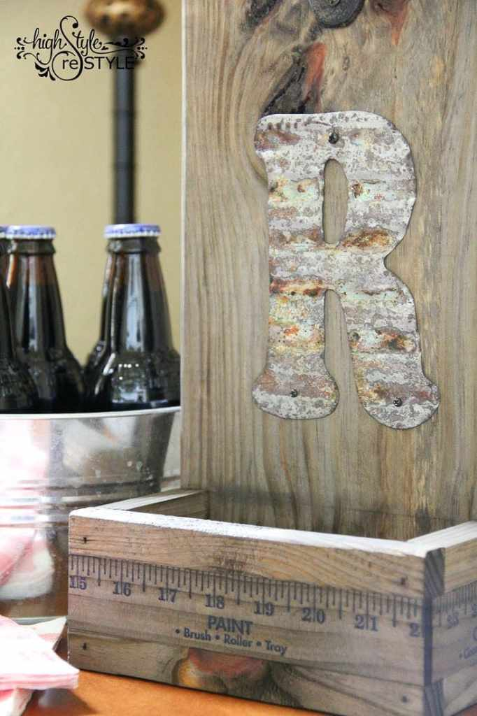 DIY Yardstick Bottle Opener | High Style Restyle for Bless'er House - Cool Father's Day gift idea!
