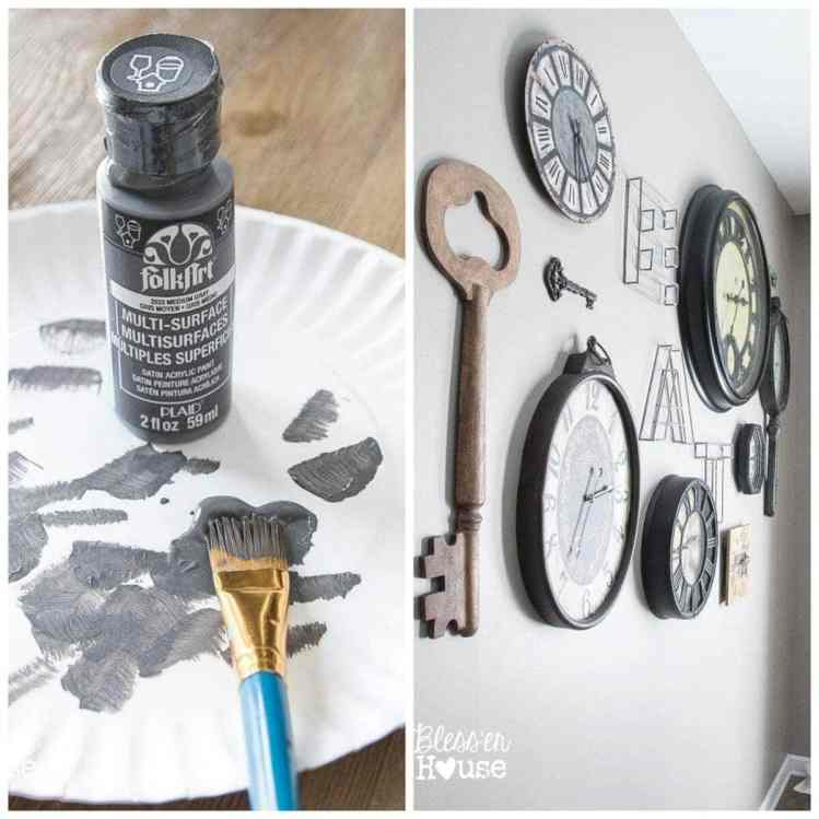 10 Must-Have Craft Supplies for Endless Money Saving Projects | Bless'er House- Change out colors on a gallery wall by just using acrylic paint