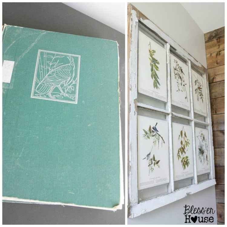 10 Must-Have Craft Supplies for Endless Money Saving Projects | Bless'er House- Repurpose book pages for rustic art
