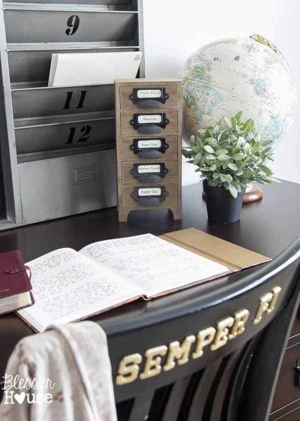 Industrial Office Supply Organizer From an Old Jewelry Box | Bless'er House