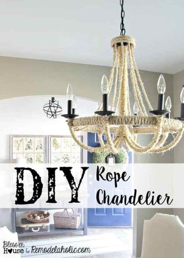 DIY Rope Chandelier | Bless'er House