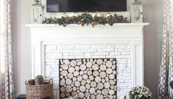 Diy faux fireplace entertainment center part one blesser house diy faux fireplace for under 600 the big reveal solutioingenieria Image collections