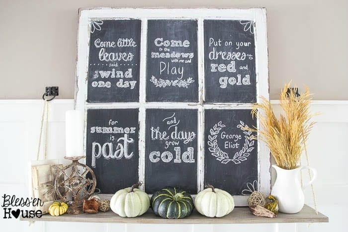 Fall Chalkboard and Shelf Vignette (1 of 11)