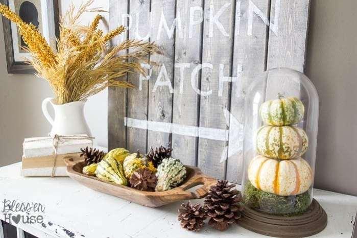 DIY Pumpkin Terrarium from a Thrifted Dome Clock   Bless'er House