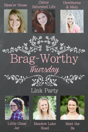 bragworthy link party graphic