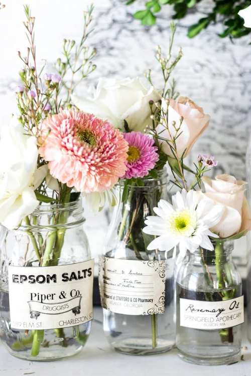Spring Apothecary Jar Labels Printable | blesserhouse.com