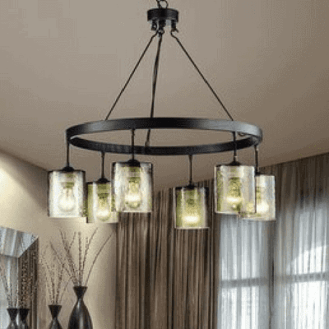 Shaded Chandelier