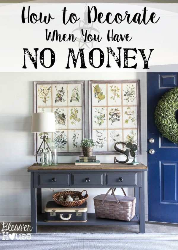 How to Decorate When You Have No Money