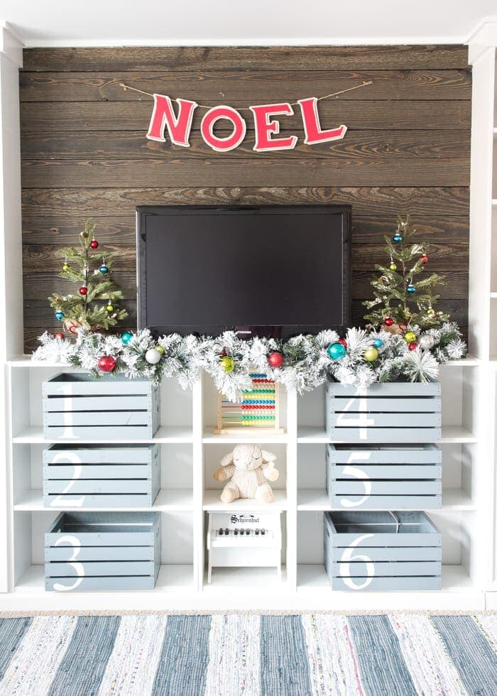 Whimsical Retro Christmas Playroom | blesserhouse.com - How to decorate with a whimsical retro Christmas theme using colorful decor from Kirkland's Christmasland line plus ideas for styling a fun playroom. #sponsored