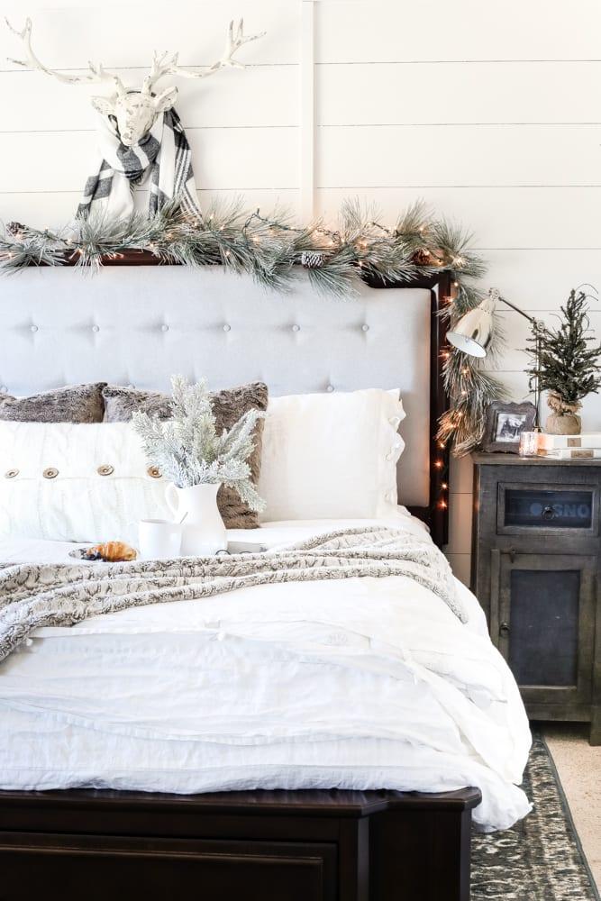 Blue Neutral Christmas Bedroom Blesser House