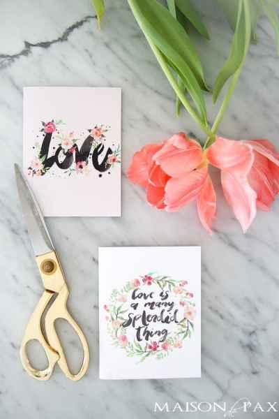 Maison de Pax | printable valentines cards