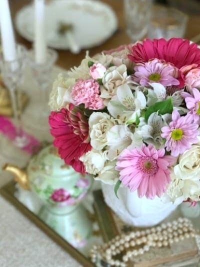 My Soulful Home | valentine-tablescape-florals