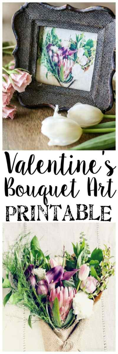 Valentine Bouquet Art Printable | blesserhouse.com - A free printable download of Valentine's Day bouquet photography art, plus 9 more free downloads from home design bloggers.