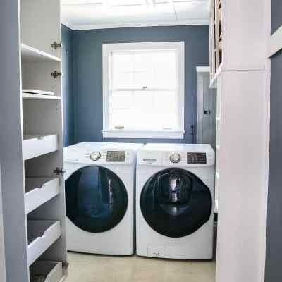 Laundry Room Paint Progress