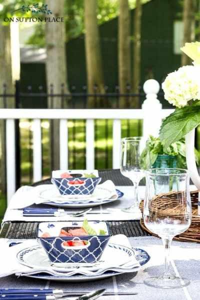 outdoor dining al fresco crystal goblet