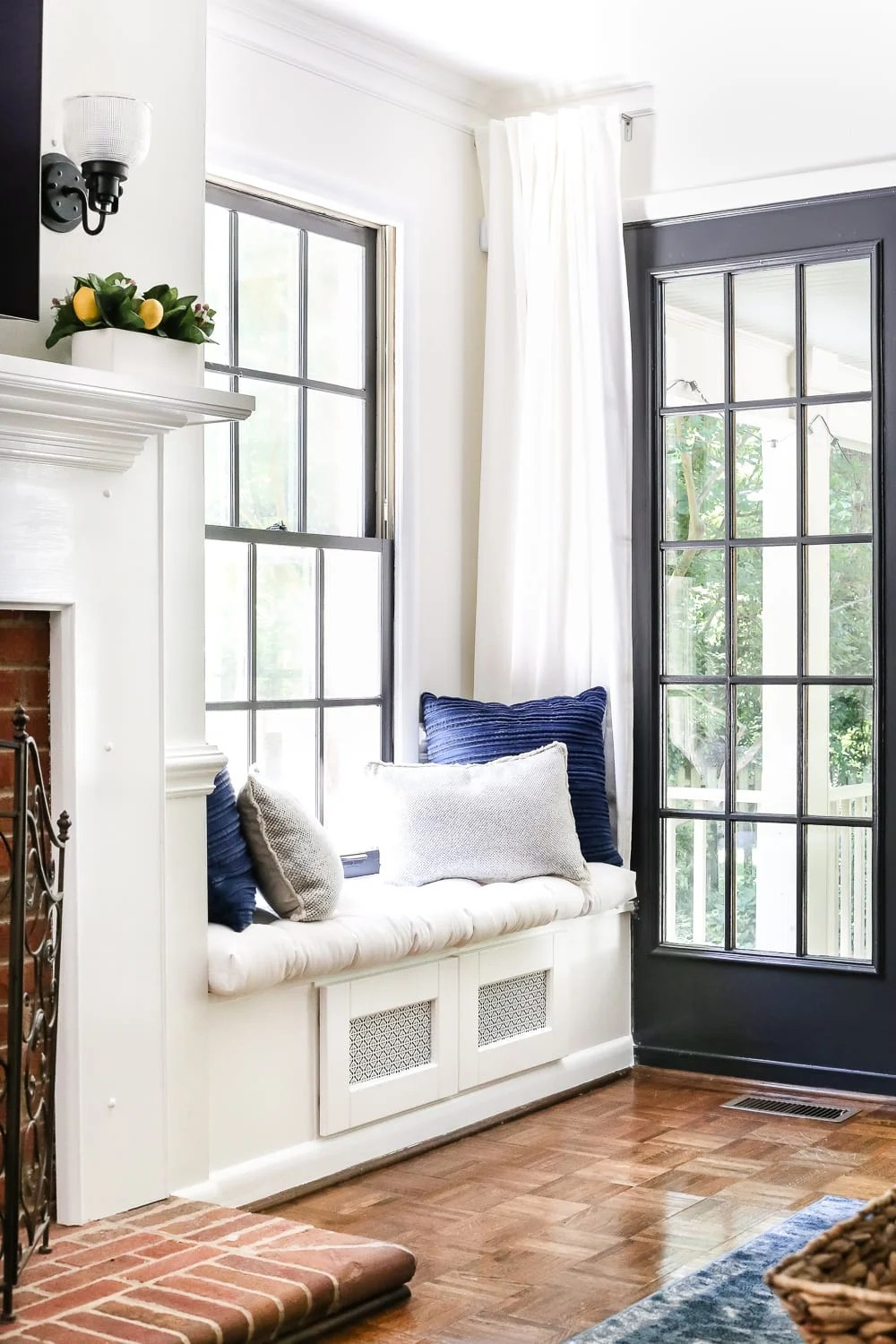 Mixing Wood And White Trim Windows