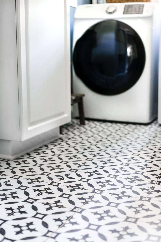 diy moroccan vinyl tile floor