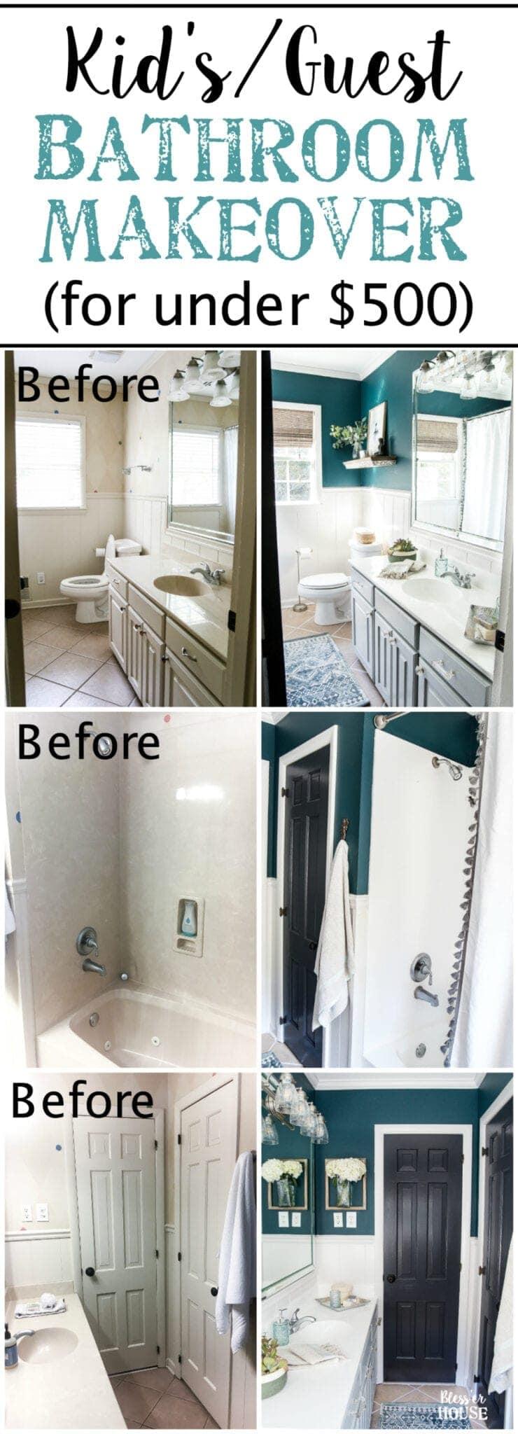 Kid39s Guest Bathroom Makeover Reveal Bless39er House