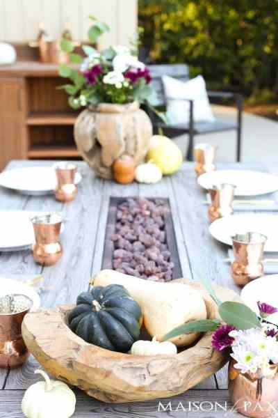 outdoor fall table thanksgiving decorating ideas-maison de pax