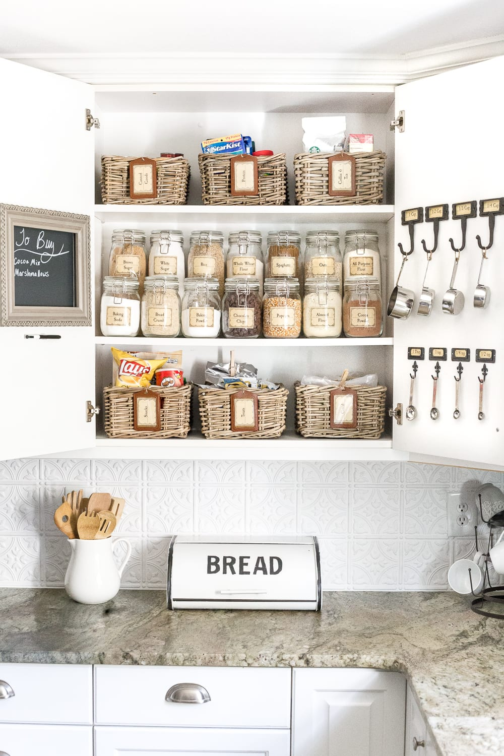 pantry cabinet organization and free printable label set blesserhouse com a cabinet gets