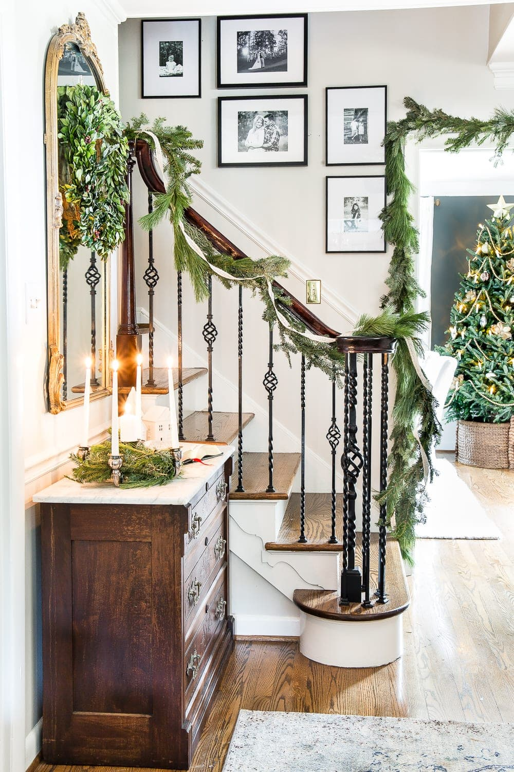 "Thrifty Christmas decorating idea: Use ""tree lot trash"" to repurpose trimmings into garland and tabletop greenery"